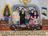 Exvoto sobre una familia que venció el Covid-19.